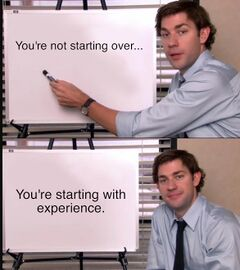 Jim Halpert Pointing to Whiteboard meme #4