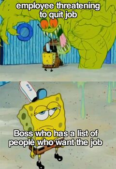 Spongebob Not Scared of The Flying Dutchman meme #4