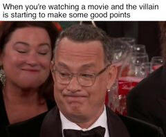 Tom Hanks' Golden Globe Grimace meme #1