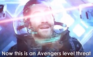Now This Is an Avengers Level Threat: blank meme template