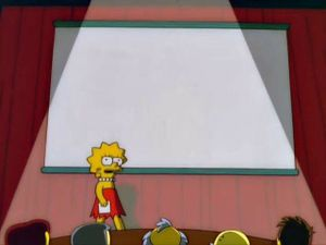 Lisa Simpson's Presentation: blank meme template