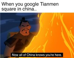 Now All of China Knows You're Here meme #2