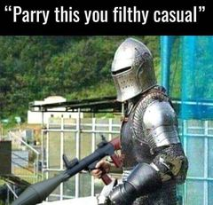 Parry This You Filthy Casual meme #1