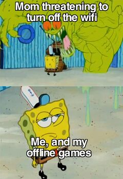 Spongebob Not Scared of The Flying Dutchman meme #1