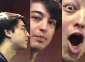 Surprised Joji: blank meme template