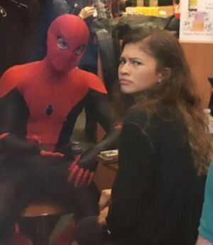 Spider-Man Explaining to Zendaya: blank meme template