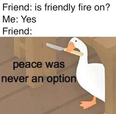 Peace Was Never an Option - Meming Wiki