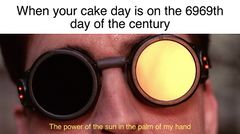 The Power of the Sun, in the Palm of My Hand meme #3