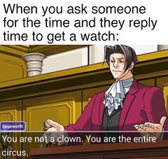 You Are Not a Clown. You Are The Entire Circus meme #1