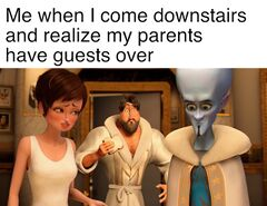 Metro Man Sees Megamind and Roxie meme #1