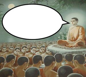 Buddha Enlightenment: blank meme template