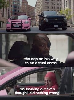 Nick Fury Looks at Pink Guy meme #4