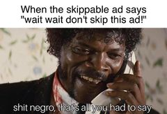 Shit Negro, That's All You Had To Say meme #1