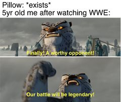 Finally! A worthy opponent! - Meming Wiki