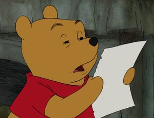 Winnie the Pooh Reading: blank meme template