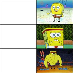 Increasingly Buff SpongeBob - Meming Wiki