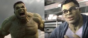 Angry Hulk vs Civil Hulk: blank meme template